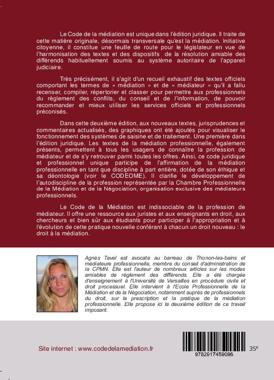 Code de la m diation et du m diateur professionnel 2nde - Chambre professionnelle de la mediation et de la negociation ...